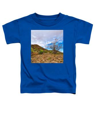 Toddler T-Shirt featuring the photograph Lone Palo Verde by Judy Kennedy