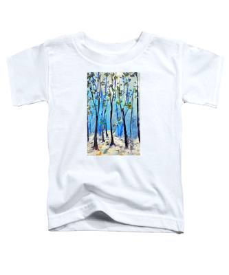 Blue Thoughts In Winter Toddler T-Shirt