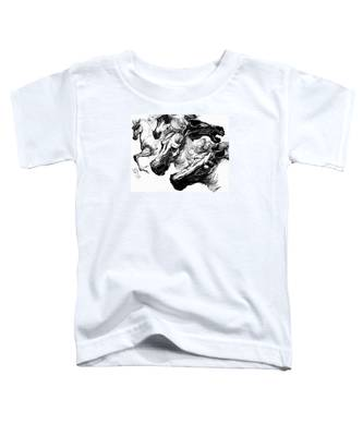 Horse Ink Drawing  Toddler T-Shirt
