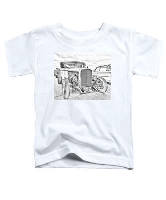 Hot Rod Faux Sketch Toddler T-Shirt
