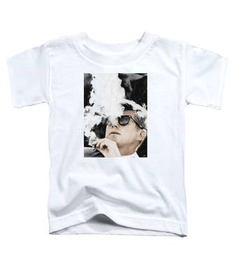 John F Kennedy Cigar And Sunglasses Toddler T-Shirt