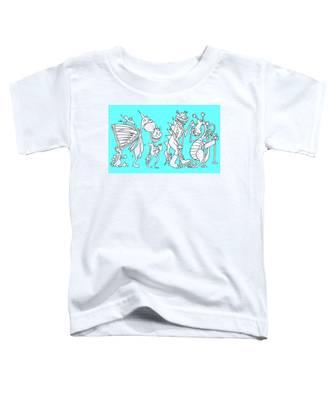 Monster Queue Blue Toddler T-Shirt