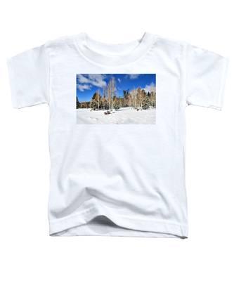 Snowy Aspen Grove Toddler T-Shirt