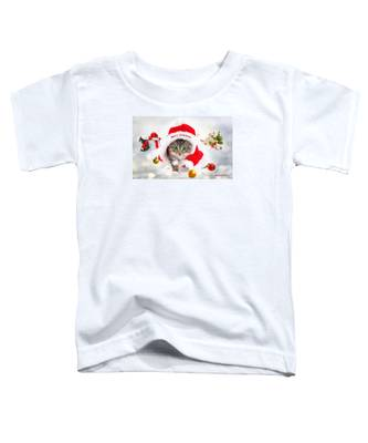 Three Christmas Kittens Toddler T-Shirt