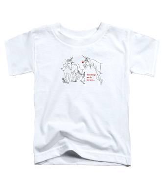 Unicorn Valentines Card Toddler T-Shirt