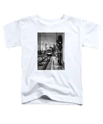Electric Commuter Train In Bw Toddler T-Shirt
