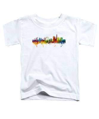 London England Skyline Panoramic Toddler T-Shirt