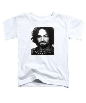 Charles Manson Mug Shot 1969 Vertical  Toddler T-Shirt