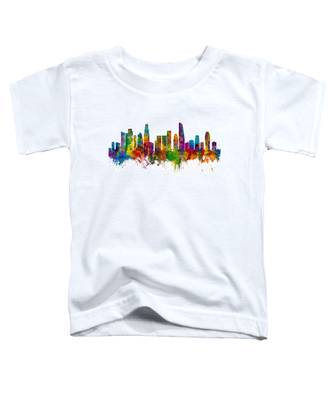 Los Angeles California Skyline Toddler T-Shirt