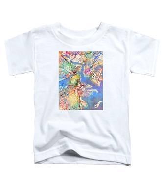 Boston Massachusetts Street Map Toddler T-Shirt