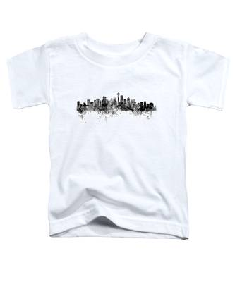 Seattle Washington Skyline Toddler T-Shirt