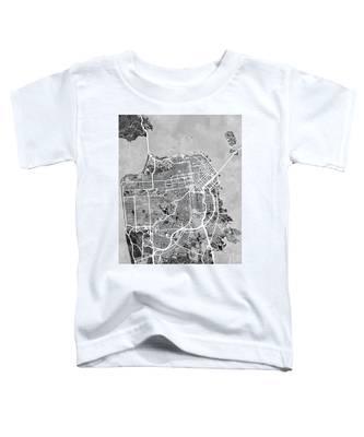 San Francisco City Street Map Toddler T-Shirt