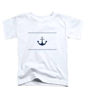 Anchor With Knot Border In Blue Toddler T-Shirt
