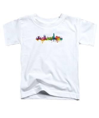 Barcelona Spain Skyline Panoramic Toddler T-Shirt