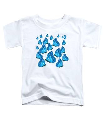 Blue Butterflies Toddler T-Shirt