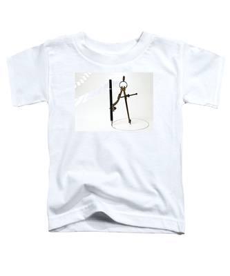 Brass Compass And Pencil Toddler T-Shirt