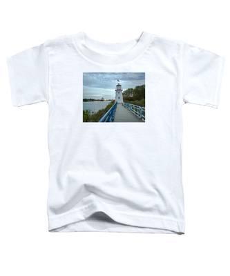 Cheboygan Crib Lighthouse Lake Huron, Lower Peninsula Mi Toddler T-Shirt