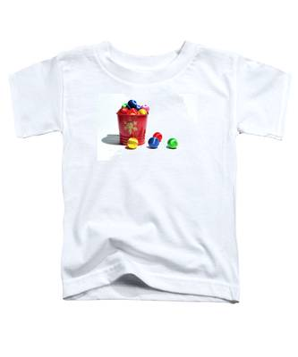 Coloured Baubles In A Pot Toddler T-Shirt