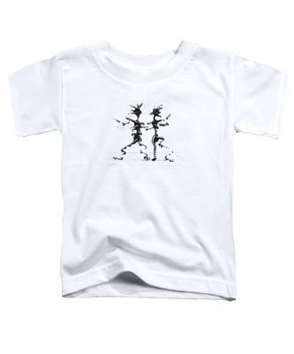 Toddler T-Shirt featuring the digital art Dancing Couple 2 by Manuel Sueess