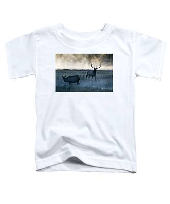 Elk In The Mist Toddler T-Shirt