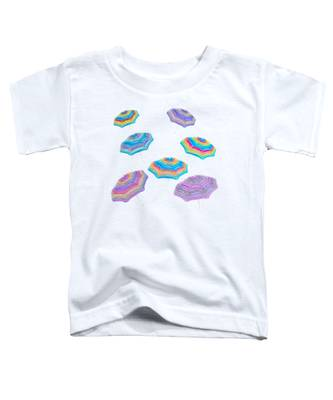 Floating Beach Umbrellas Toddler T-Shirt