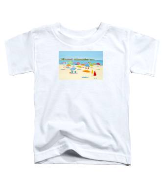 Hampton Beach Umbrellas Toddler T-Shirt