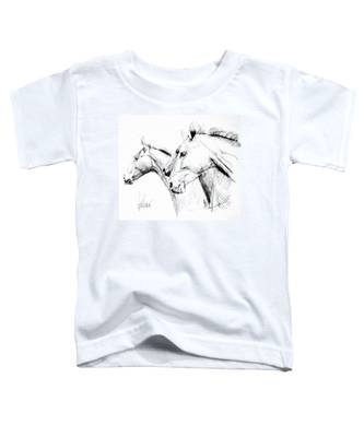 Horses - Ink Drawing Toddler T-Shirt