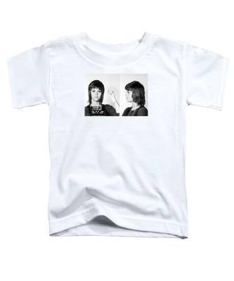 Jane Fonda Mug Shot Horizontal Toddler T-Shirt