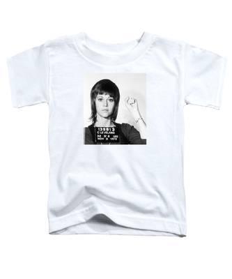 Jane Fonda Mug Shot Vertical Toddler T-Shirt
