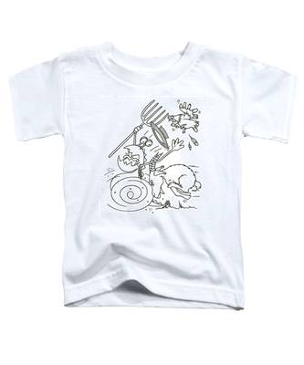 Monster Getting Chased Toddler T-Shirt