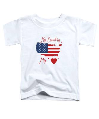My Country My Heart Toddler T-Shirt