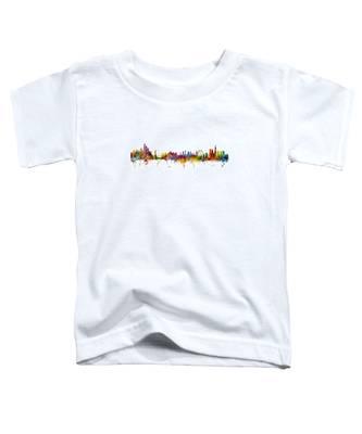 New York And London Skyline Mashup Toddler T-Shirt
