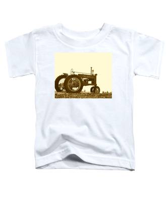 Old Tractor IIi In Sepia Toddler T-Shirt
