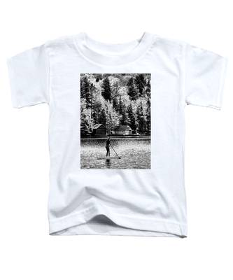 Paddleboarding On Old Forge Pond Toddler T-Shirt