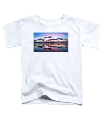 Sunrise Pink Wisps Delray Beach Florida Toddler T-Shirt