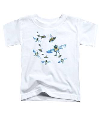 T-shirt With Bees Design Toddler T-Shirt