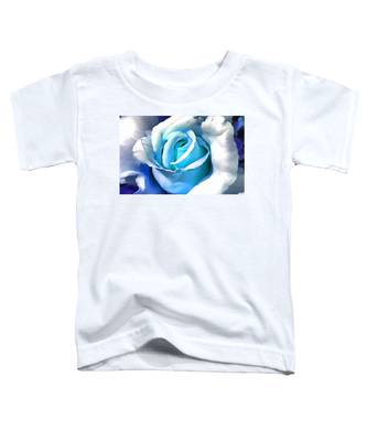 Turquoise Rose Toddler T-Shirt