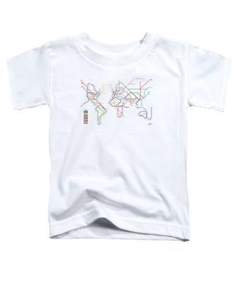 World Metro Tube Subway Map Toddler T-Shirt