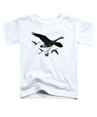 Aero Canada - Bw Toddler T-Shirt