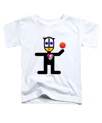 Cat With A Ball Toddler T-Shirt
