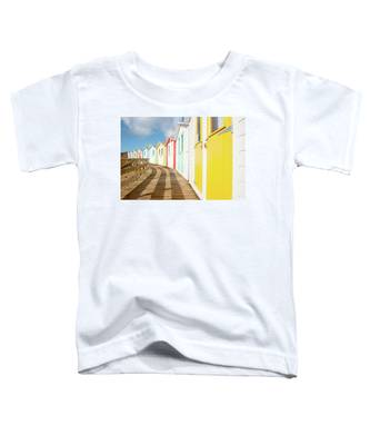 Colourful Bude Beach Huts Toddler T-Shirt