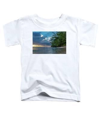 Negril Beach Sunburst At Sunset Toddler T-Shirt