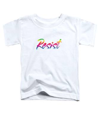 Resist - Rainbow On White Toddler T-Shirt