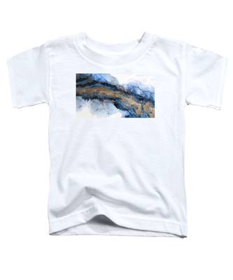 River Of Blue And Gold Abstract Painting Toddler T-Shirt