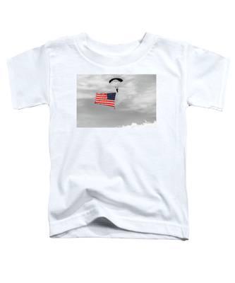 Socom Flag Jump In Selective Color Toddler T-Shirt