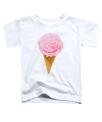 Strawberry Ice Cream Cone Toddler T-Shirt