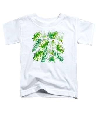 Tropical Leaves And Ferns Toddler T-Shirt
