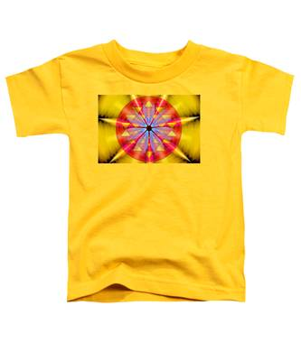 Toddler T-Shirt featuring the drawing Geo-cosmic Sri Yantra by Derek Gedney