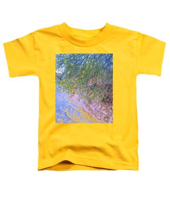 Toddler T-Shirt featuring the photograph Golden Petals In A Desert Wash by Judy Kennedy