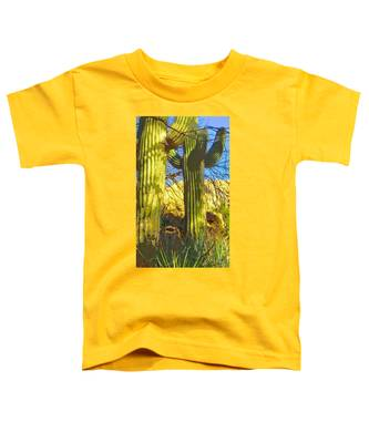 Toddler T-Shirt featuring the photograph In The Shadow Of Saguaros by Judy Kennedy